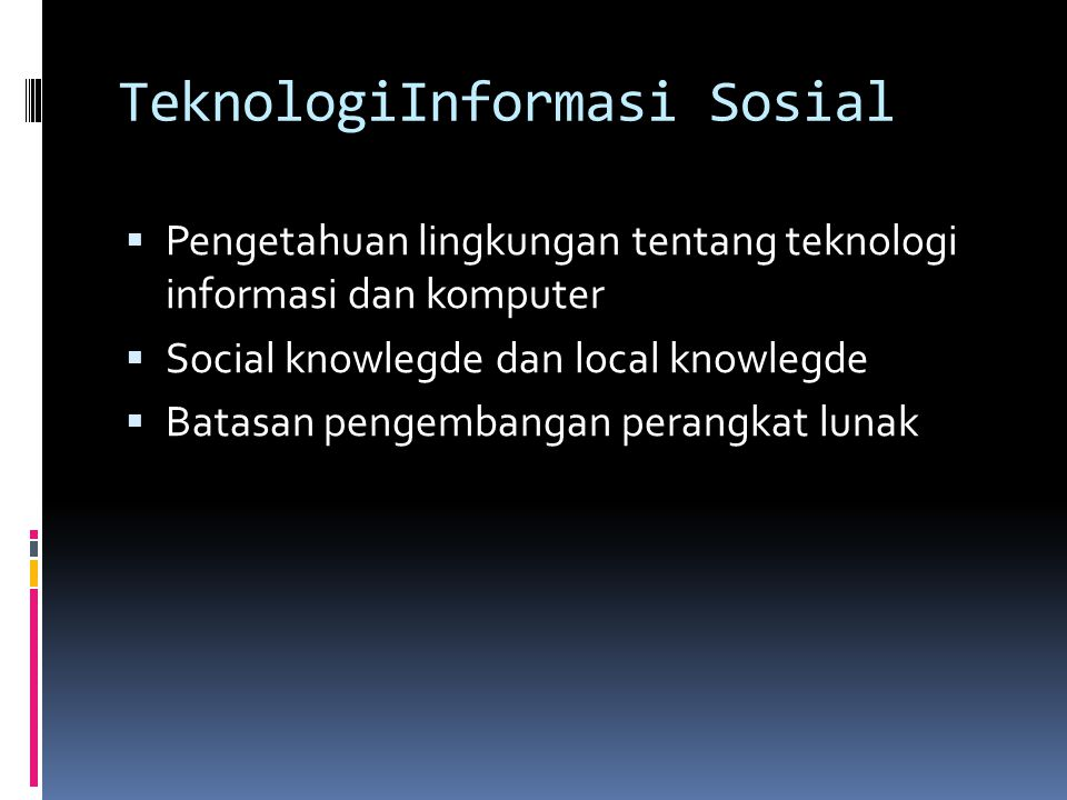 TeknologiInformasi Sosial