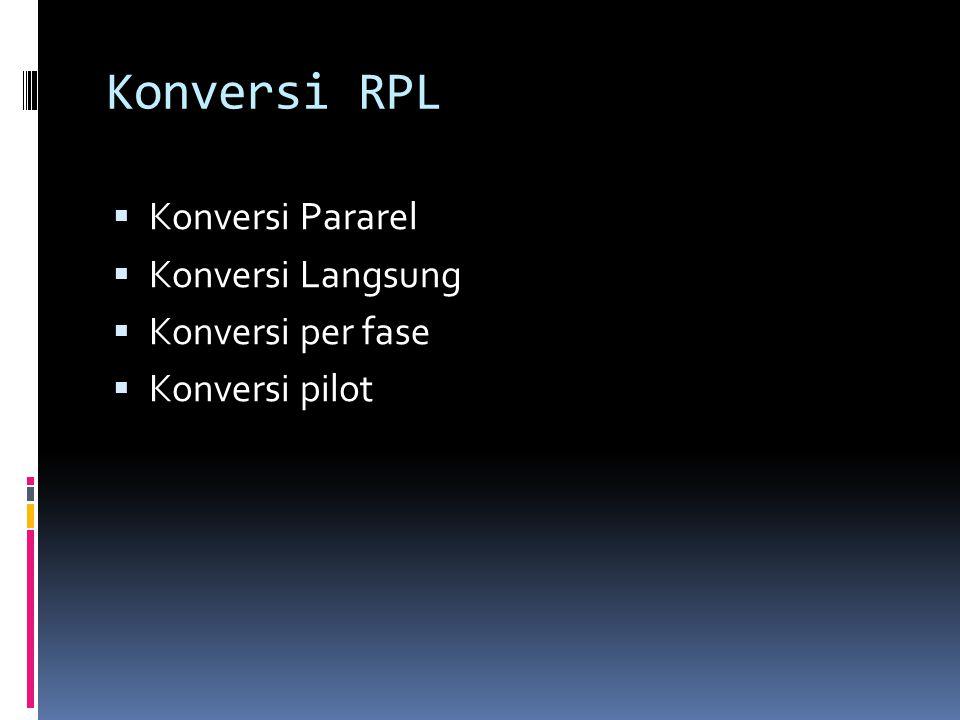 Konversi RPL Konversi Pararel Konversi Langsung Konversi per fase