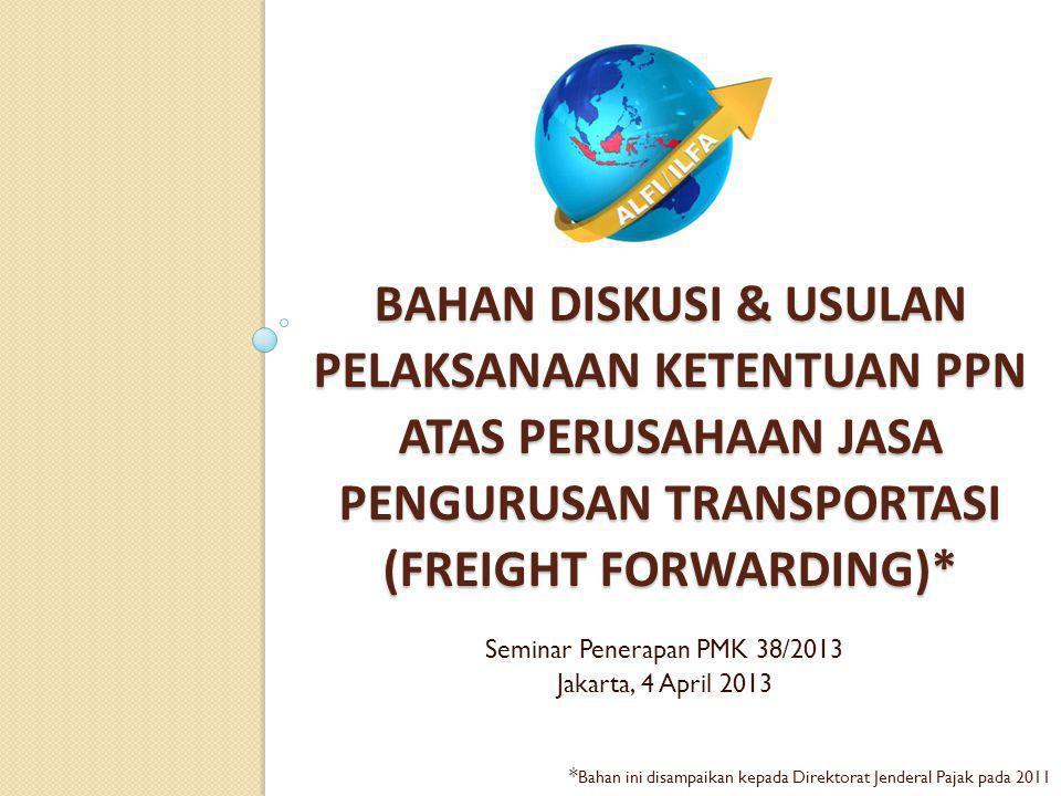 I. PPN Atas Jasa Freight Forwarding COY (FFC)