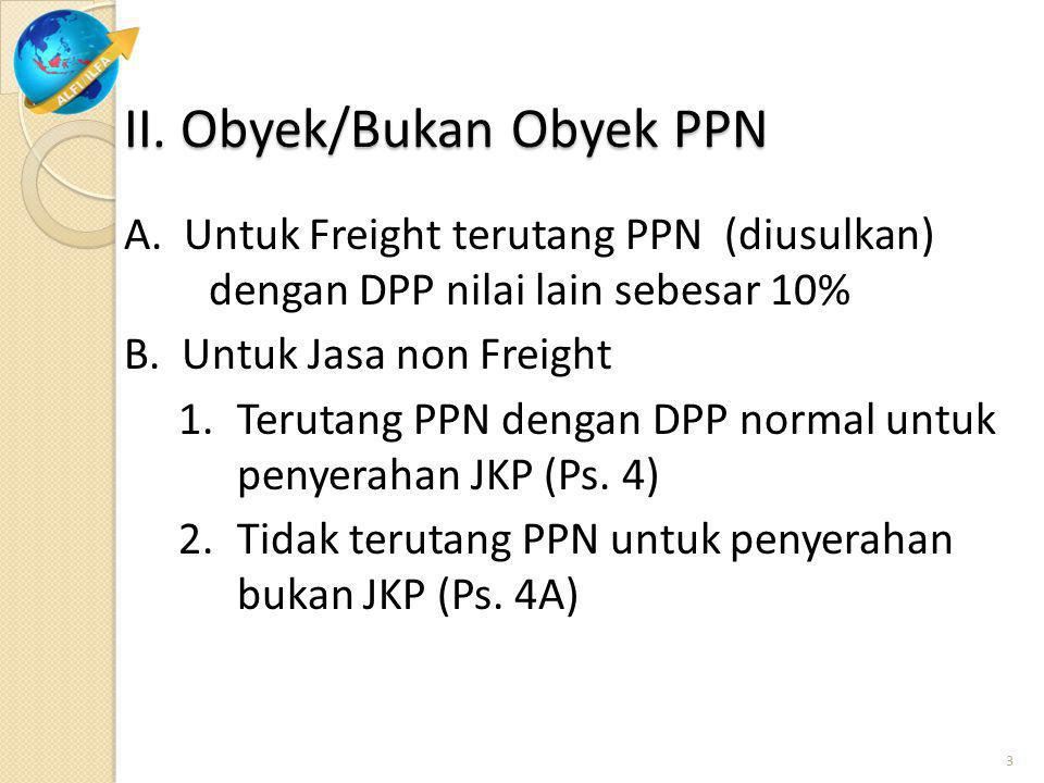 C. Lain – lain: Untuk pembayaran/penerimaan dari/keluar negeri (overseas) tidak dikenakan PPN (sama perlakuannya dengan jasa courier)