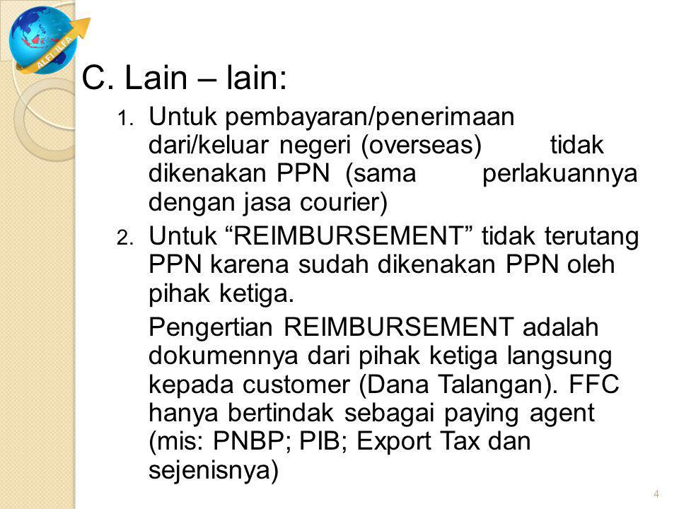 III. Commercial Invoice