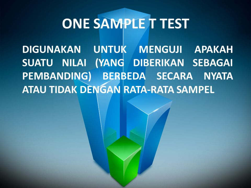 ONE SAMPLE T TEST