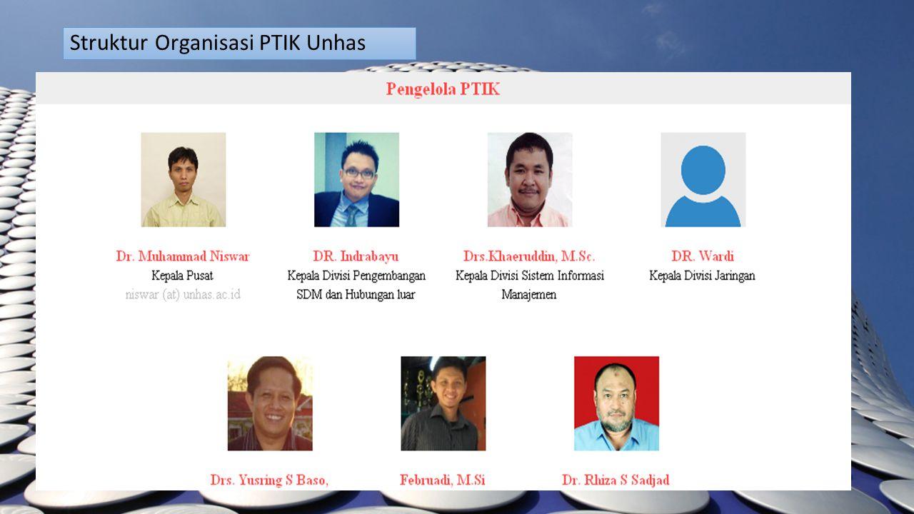 Struktur Organisasi PTIK Unhas