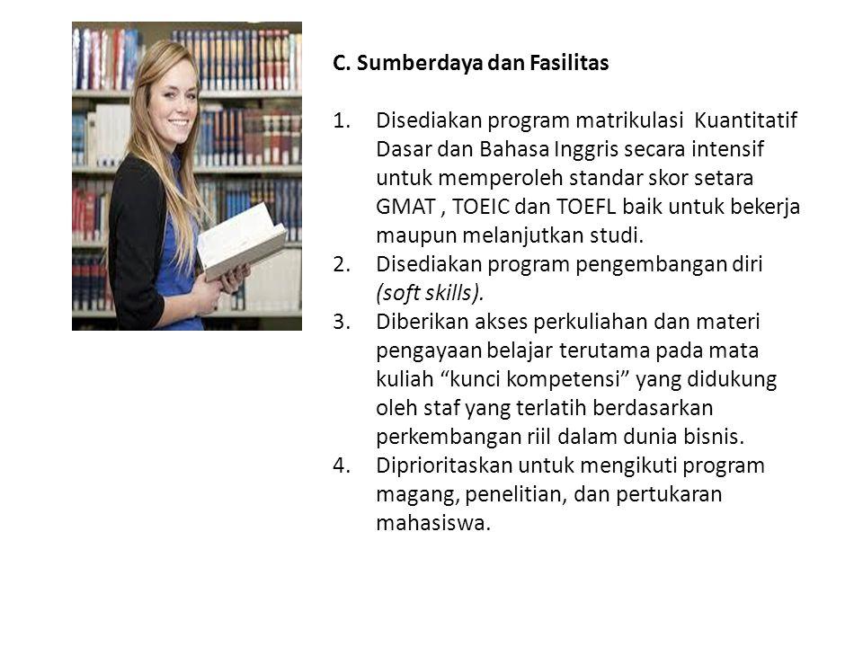 C. Sumberdaya dan Fasilitas