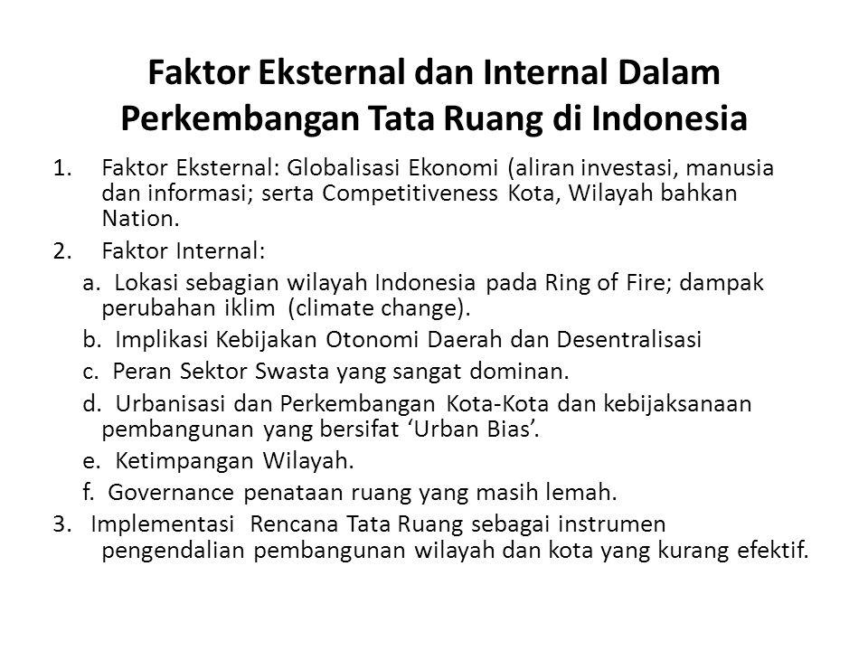Faktor Eksternal dan Internal Dalam Perkembangan Tata Ruang di Indonesia