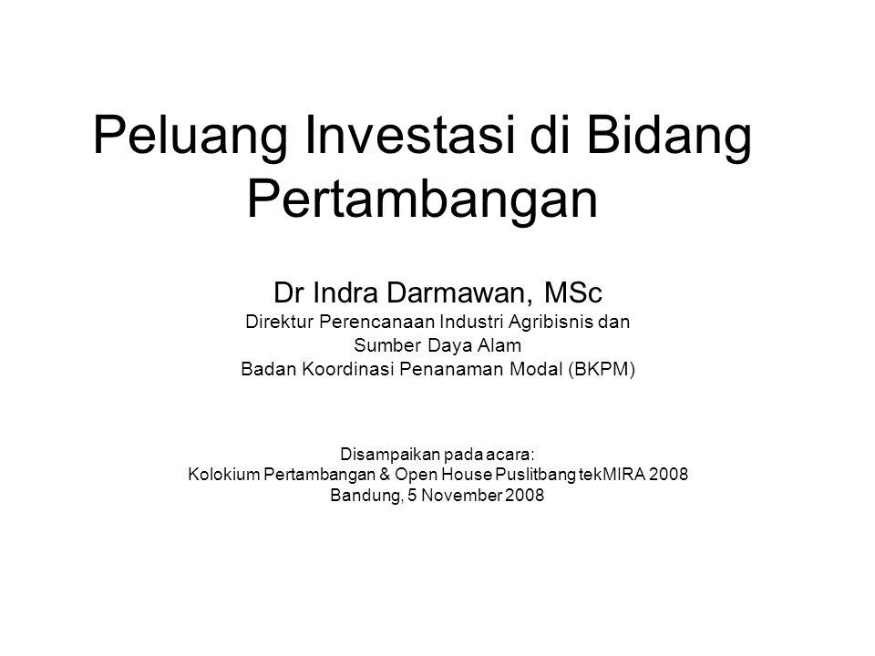 Peluang Investasi di Bidang Pertambangan
