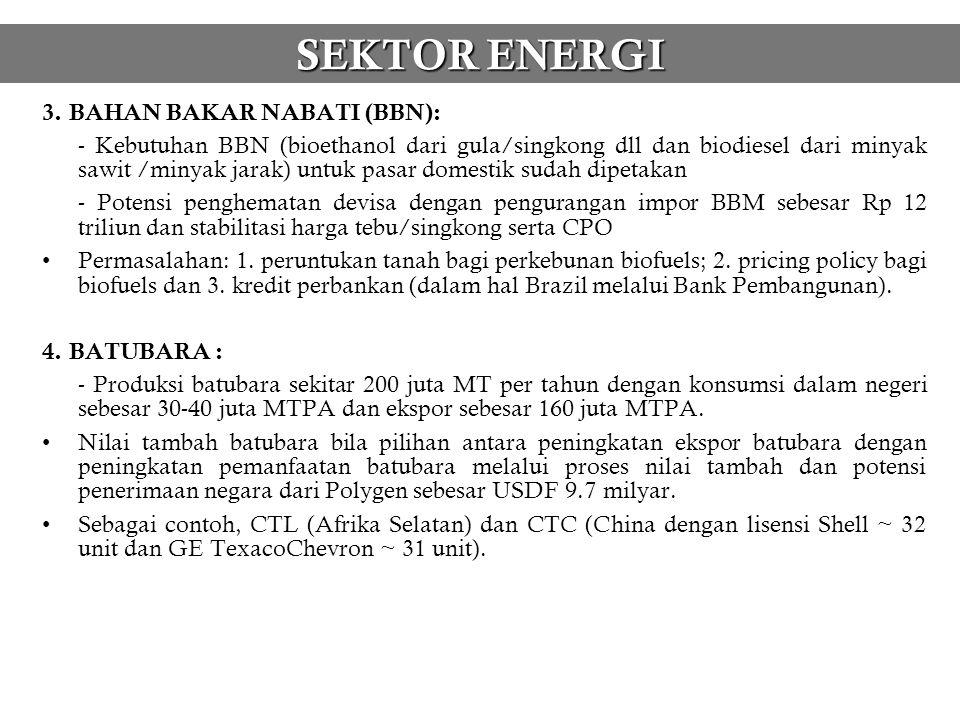 SEKTOR ENERGI 3. BAHAN BAKAR NABATI (BBN):