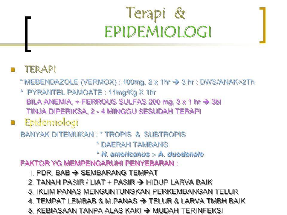 Terapi & EPIDEMIOLOGI TERAPI Epidemiologi