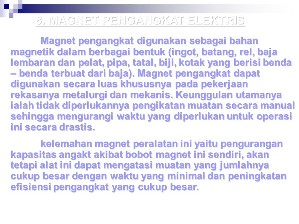 8. MAGNET PENGANGKAT ELEKTRIS