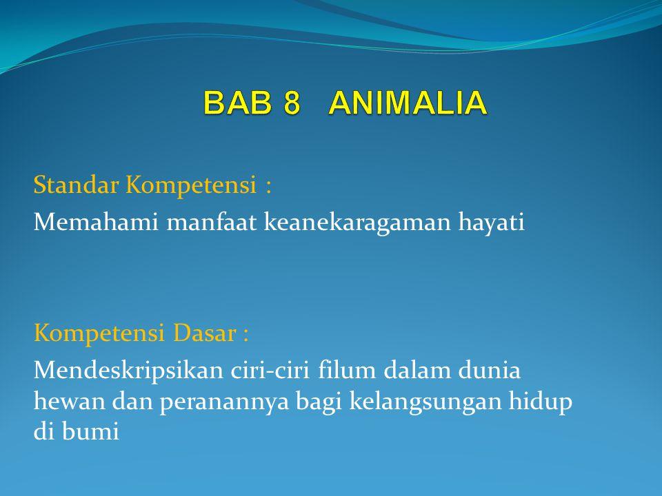 BAB 8 ANIMALIA Standar Kompetensi :