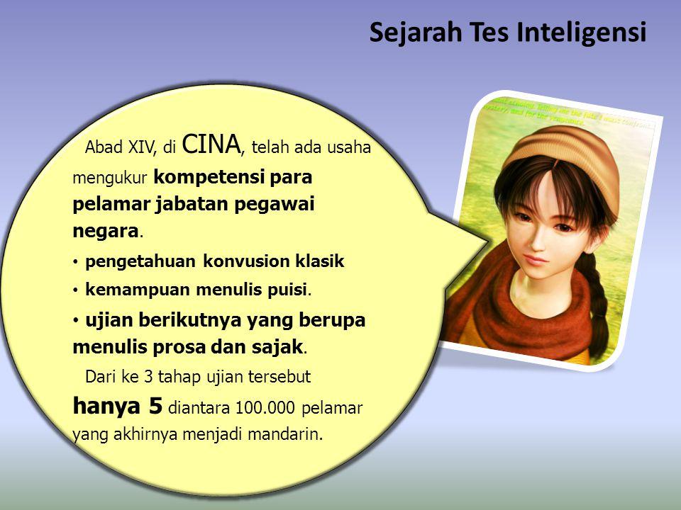 Sejarah Tes Inteligensi