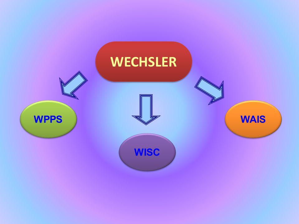 WECHSLER WPPS WAIS WISC