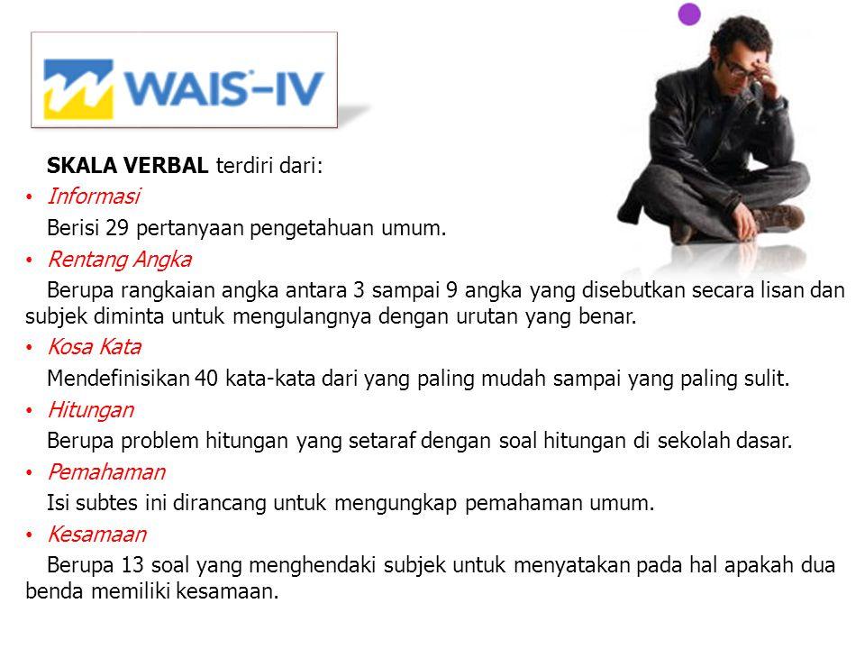 SKALA VERBAL terdiri dari: