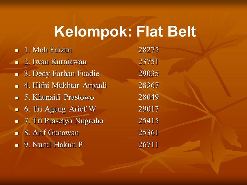 Kelompok: Flat Belt 1. Moh Faizun 28275 2. Iwan Kurniawan 23751