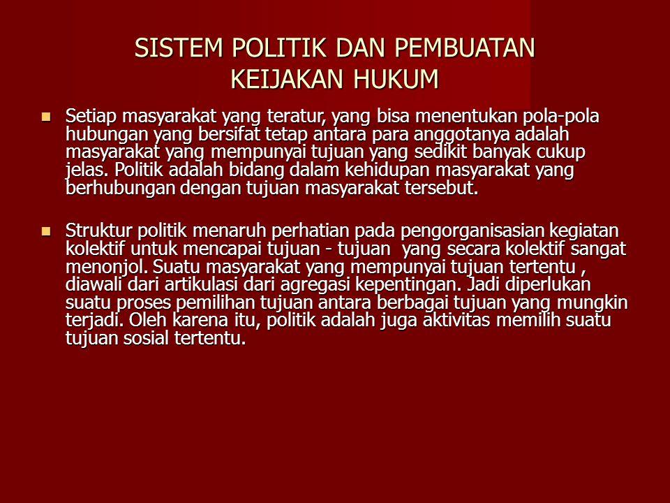 SISTEM POLITIK DAN PEMBUATAN