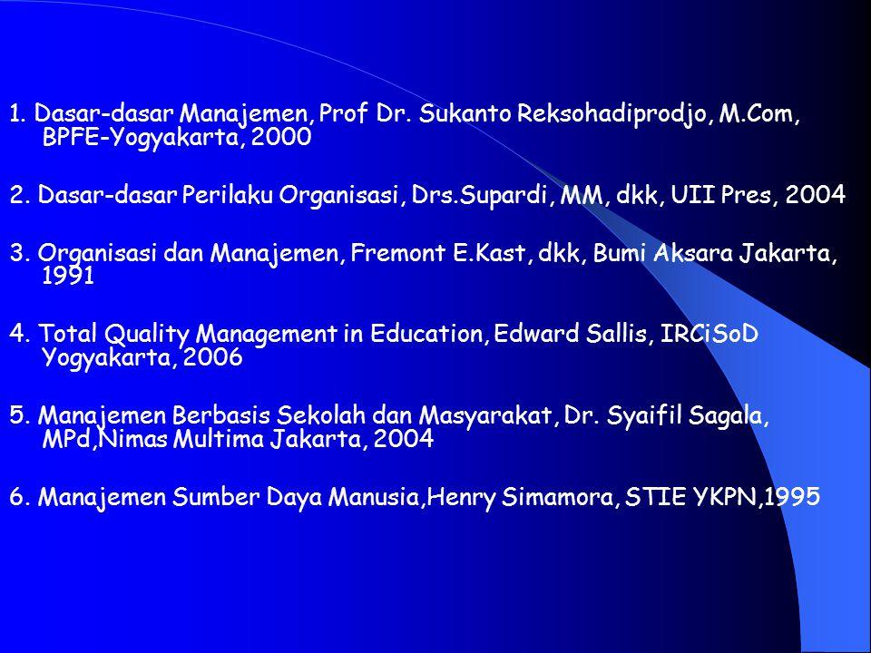 1. Dasar-dasar Manajemen, Prof Dr. Sukanto Reksohadiprodjo, M