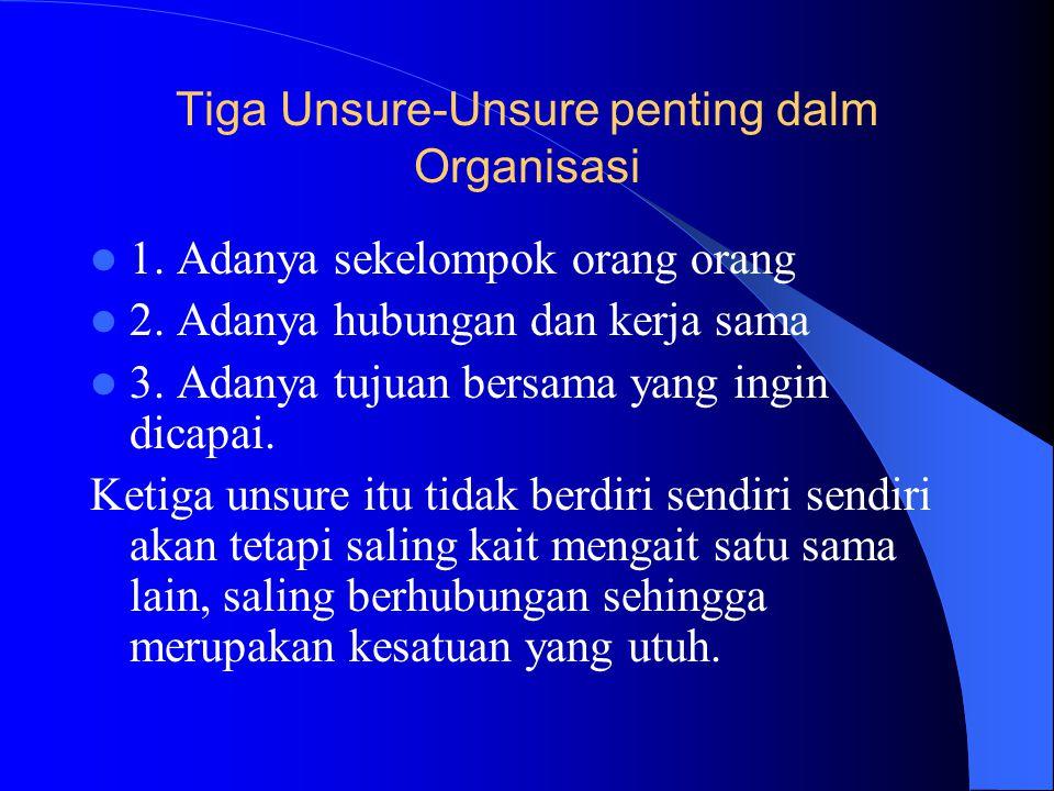 Tiga Unsure-Unsure penting dalm Organisasi