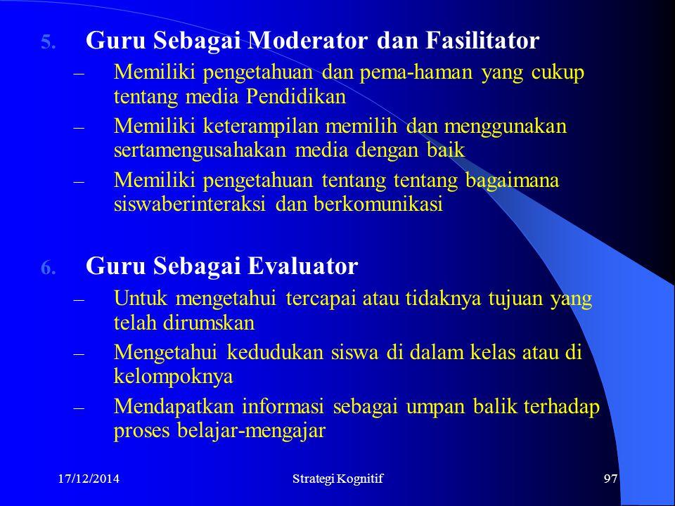 Guru Sebagai Moderator dan Fasilitator