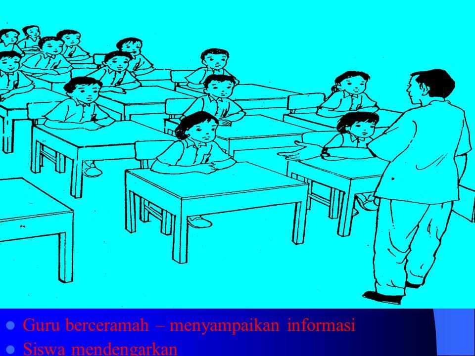 Guru berceramah – menyampaikan informasi