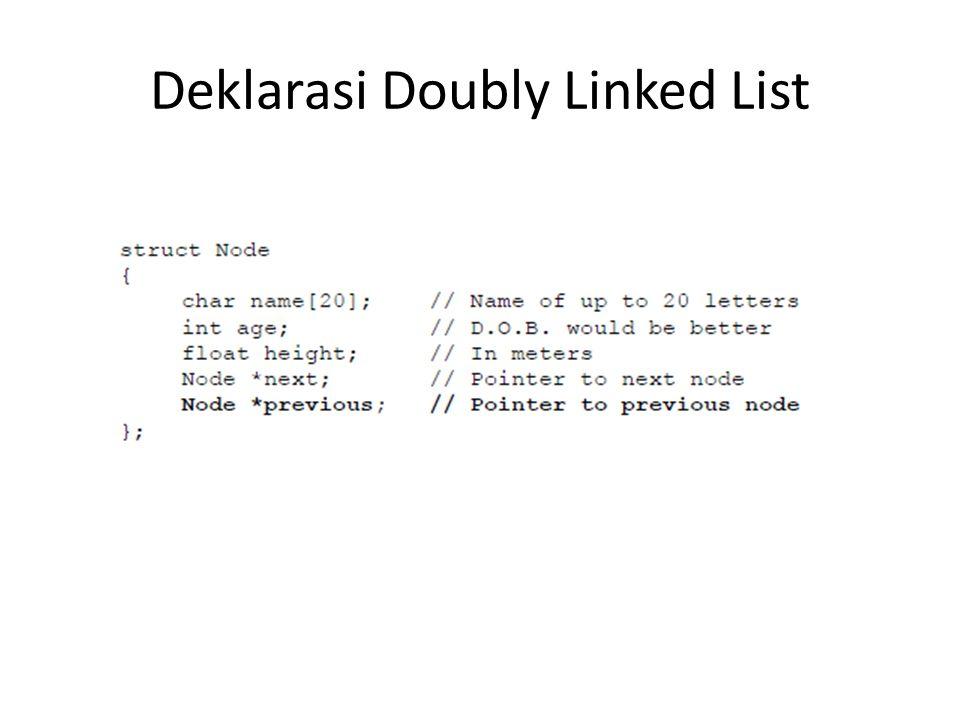 Deklarasi Doubly Linked List