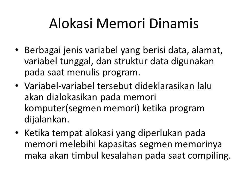 Alokasi Memori Dinamis