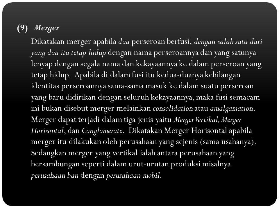 (9) Merger
