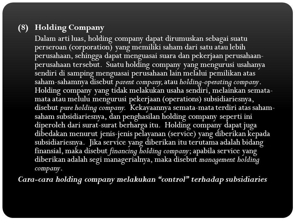(8) Holding Company