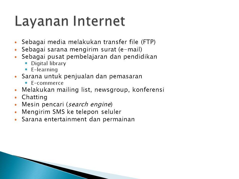 Layanan Internet Sebagai media melakukan transfer file (FTP)