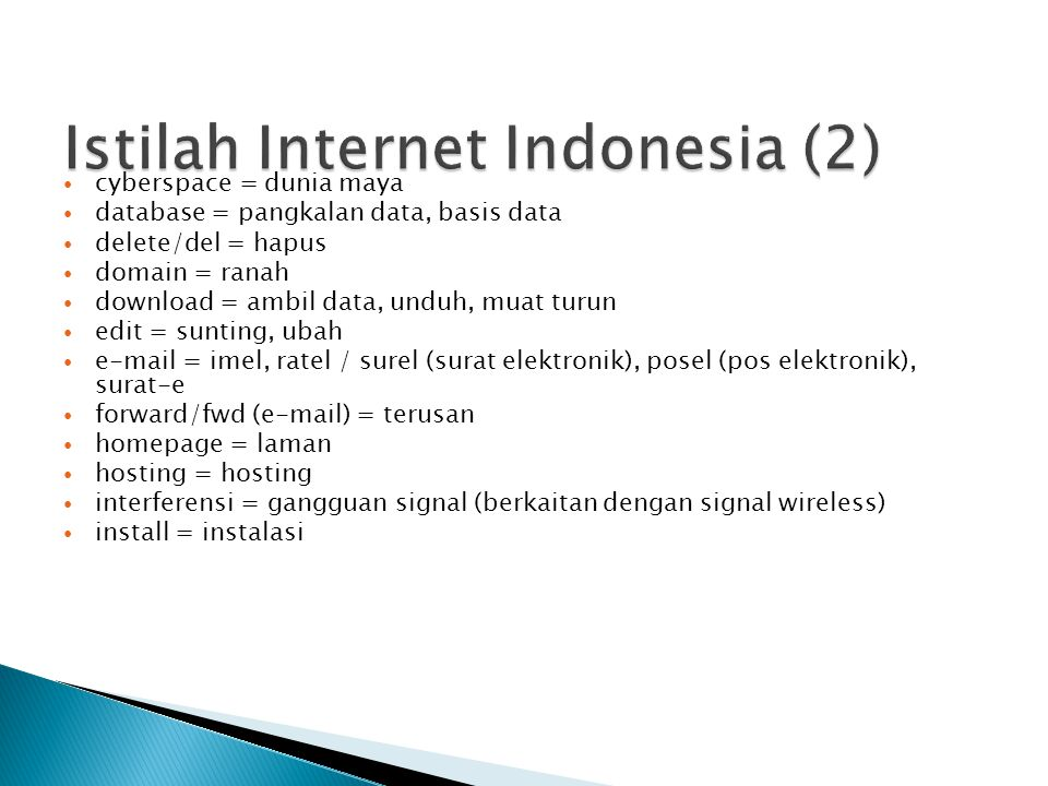 Istilah Internet Indonesia (2)