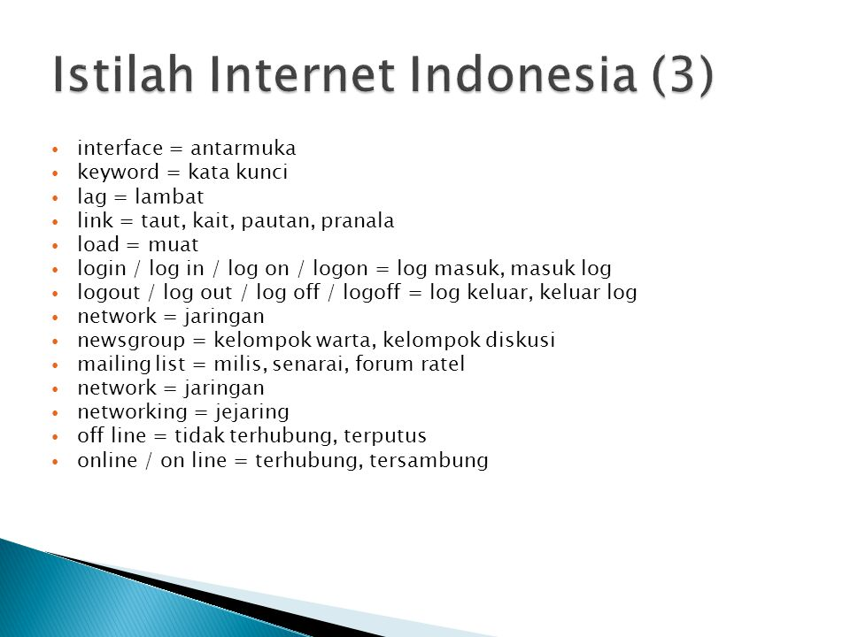 Istilah Internet Indonesia (3)