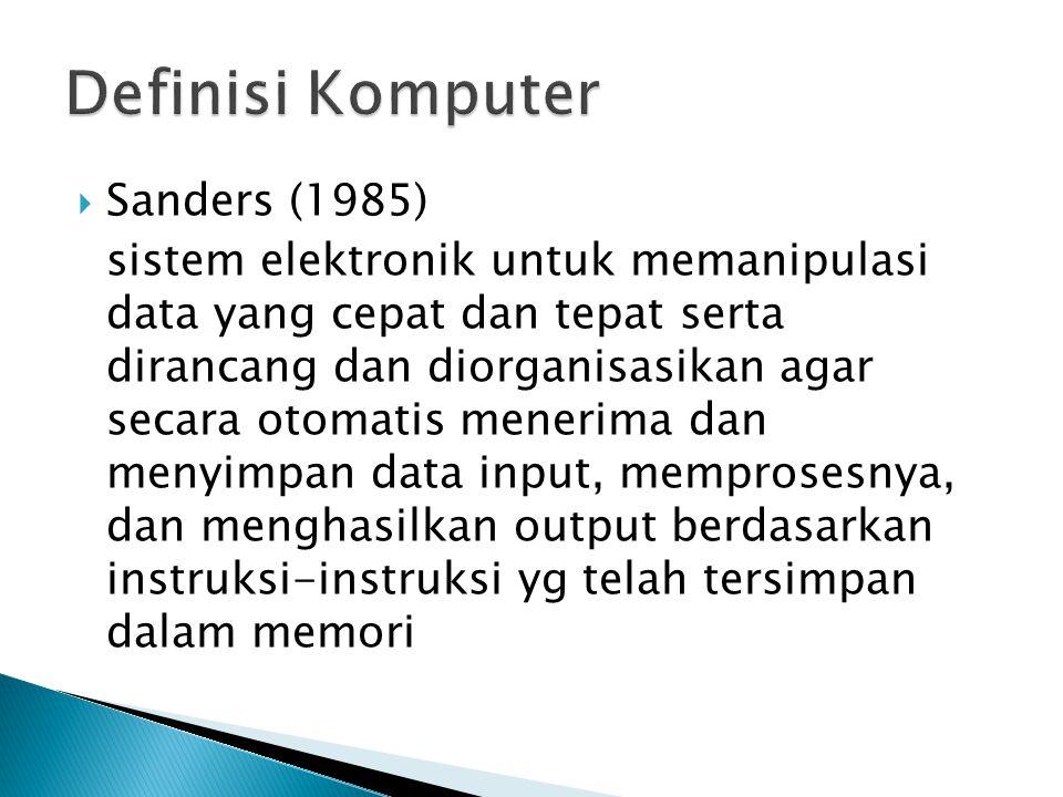 Definisi Komputer Sanders (1985)