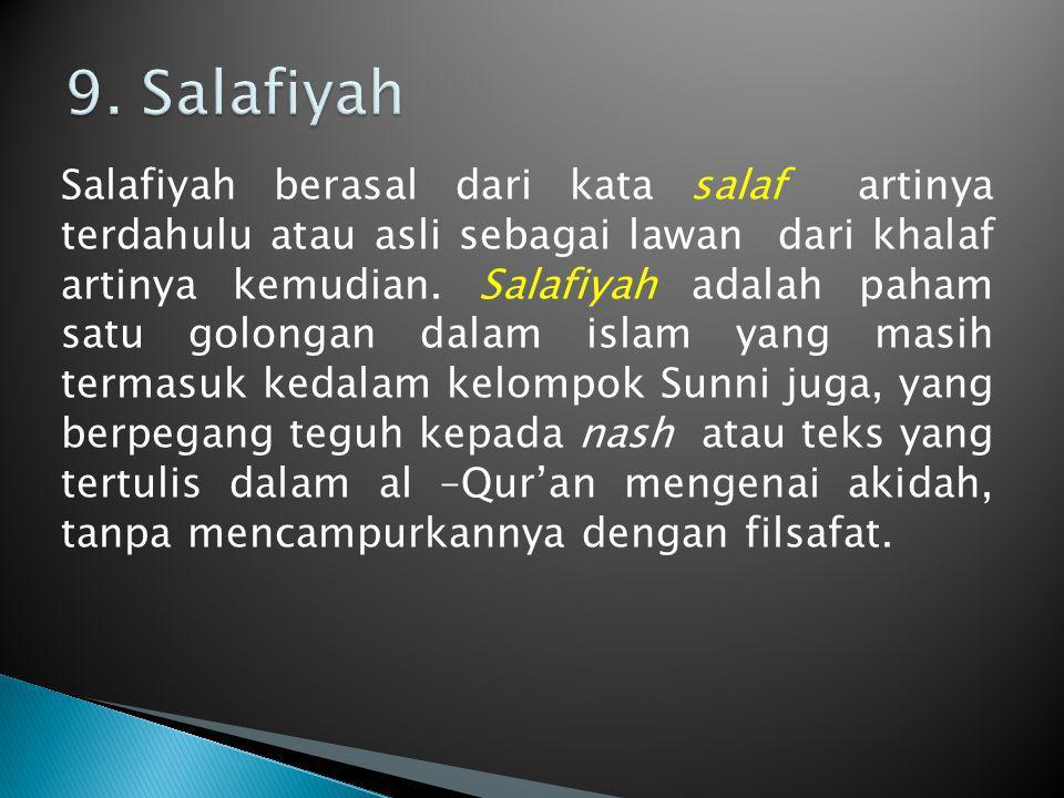 9. Salafiyah