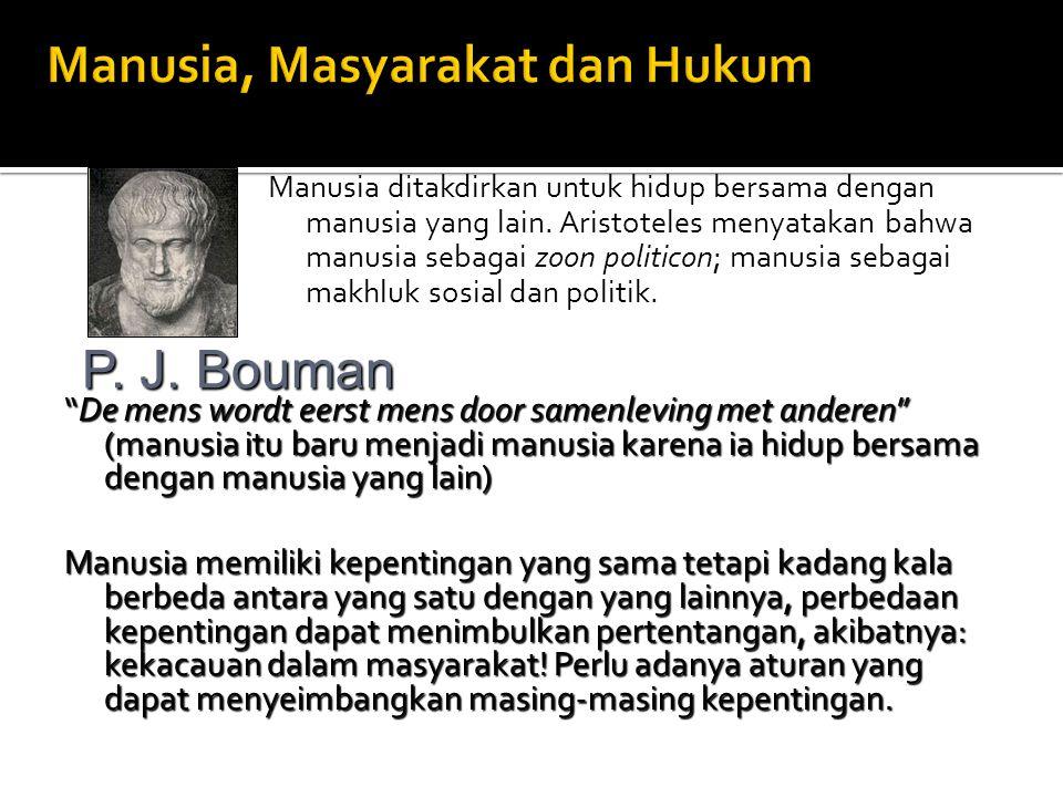 Manusia, Masyarakat dan Hukum