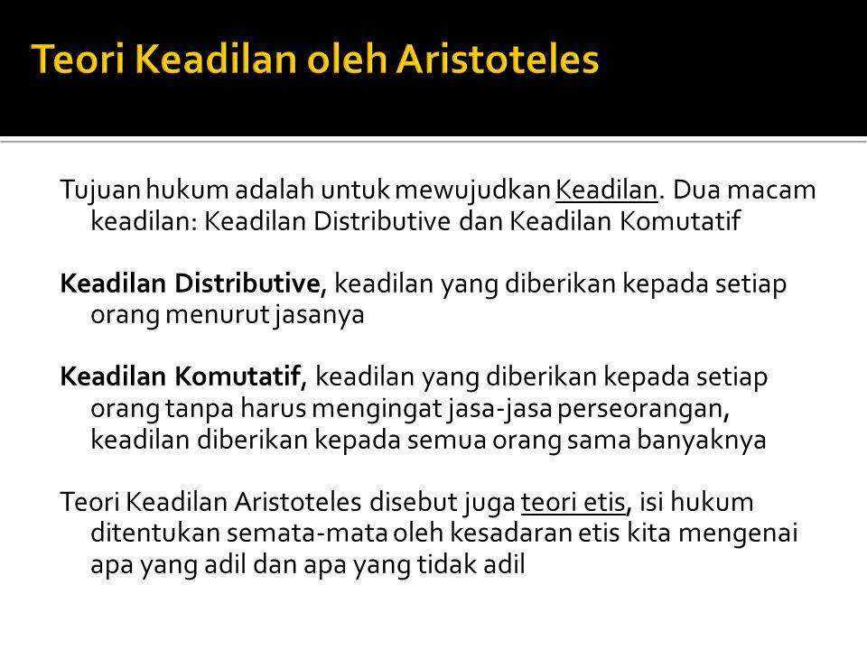 Teori Keadilan oleh Aristoteles