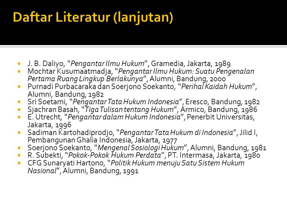 Daftar Literatur (lanjutan)