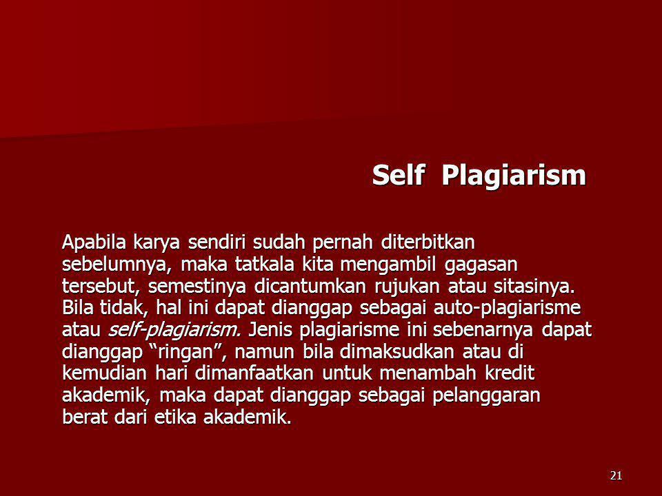 Self Plagiarism