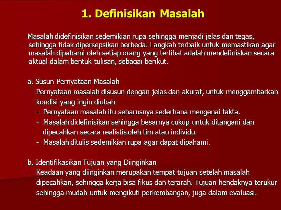 1. Definisikan Masalah