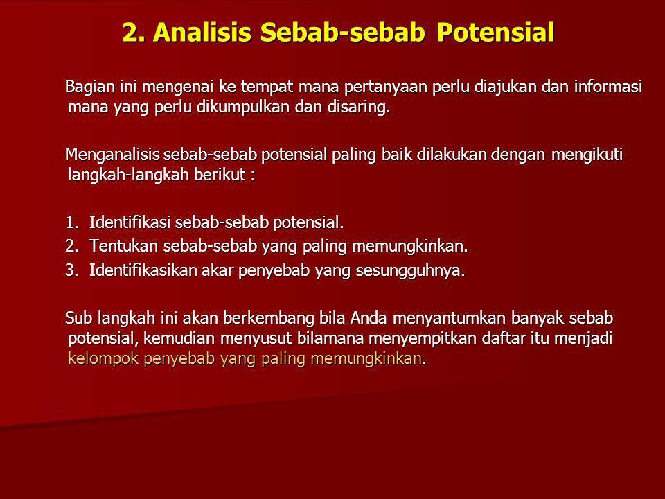 2. Analisis Sebab-sebab Potensial