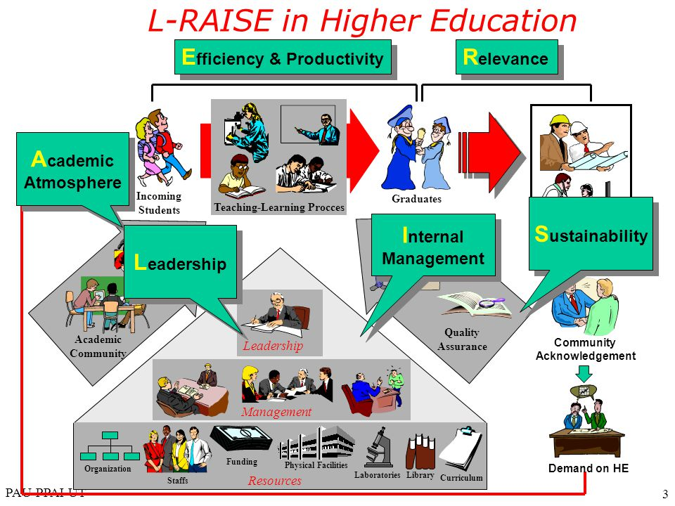 L-RAISE in Higher Education