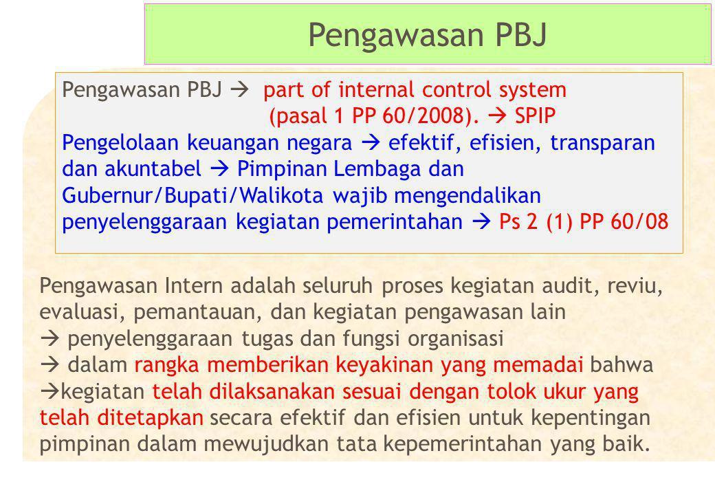 Pengawasan PBJ Pengawasan PBJ  part of internal control system