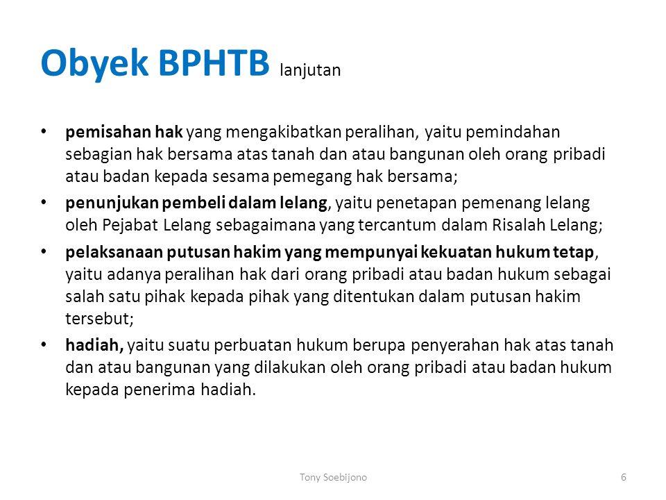 Obyek BPHTB lanjutan