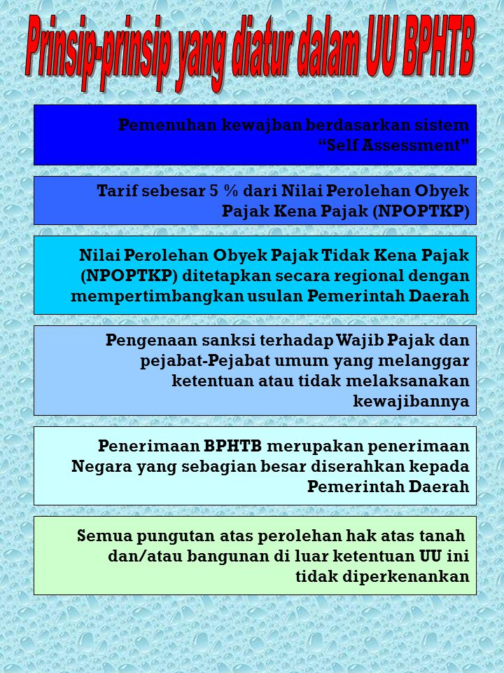 Prinsip-prinsip yang diatur dalam UU BPHTB