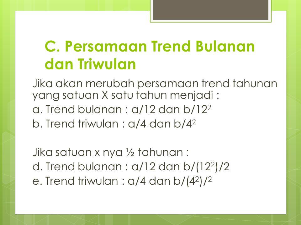 C. Persamaan Trend Bulanan dan Triwulan
