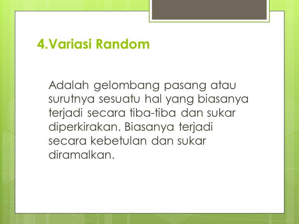 4.Variasi Random