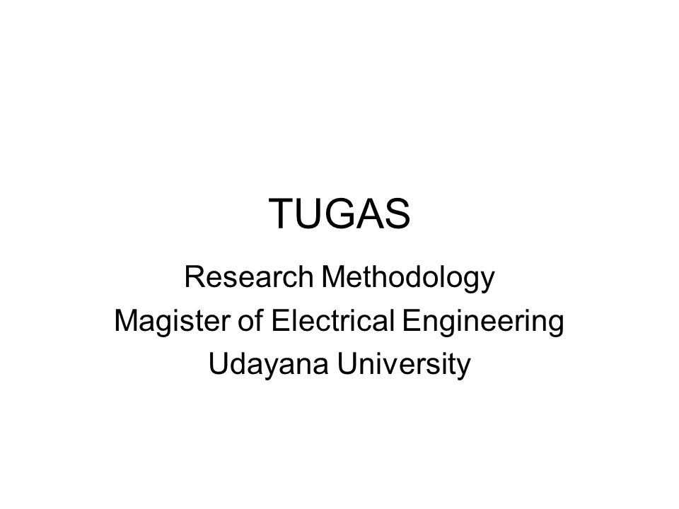 Magister of Electrical Engineering