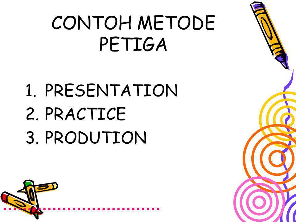 CONTOH METODE PETIGA PRESENTATION PRACTICE PRODUTION