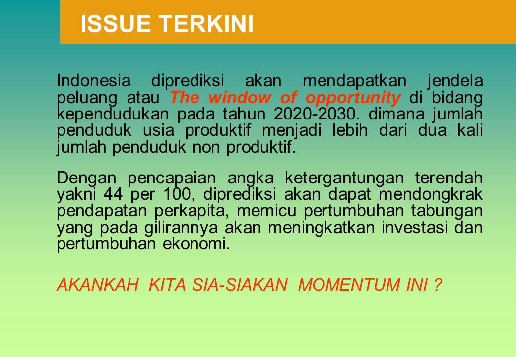 ISSUE TERKINI