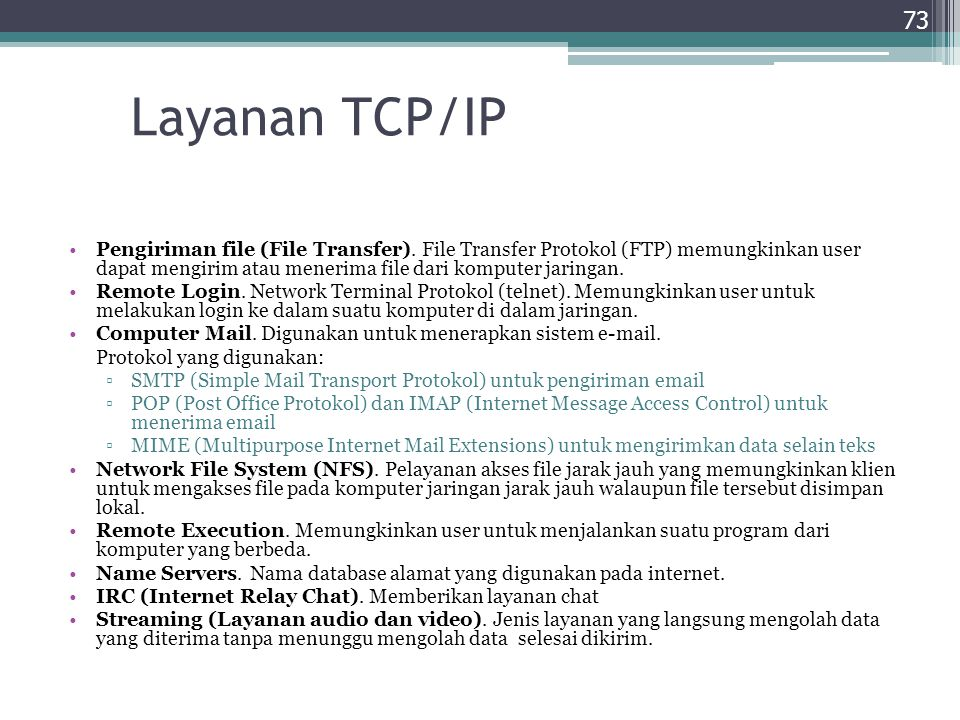 Layanan TCP/IP