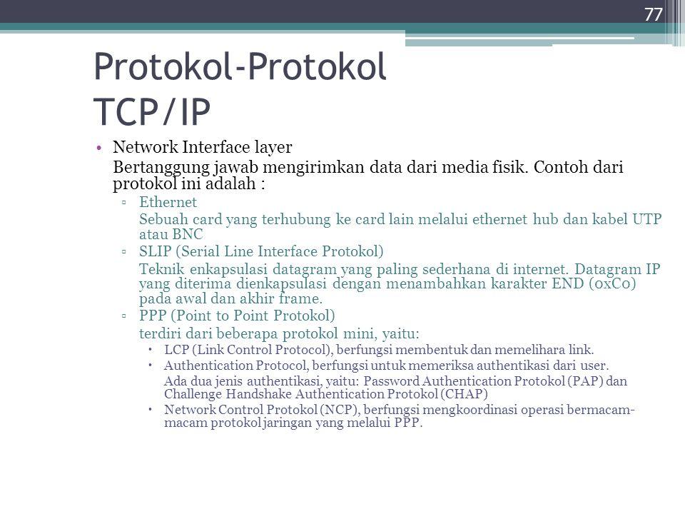 Protokol-Protokol TCP/IP