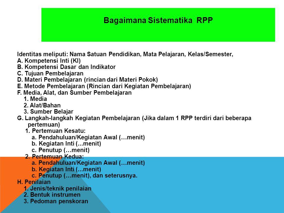 Bagaimana Sistematika RPP